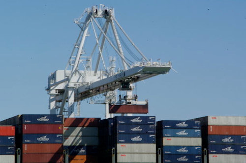 Beladung 40 Fuss Container