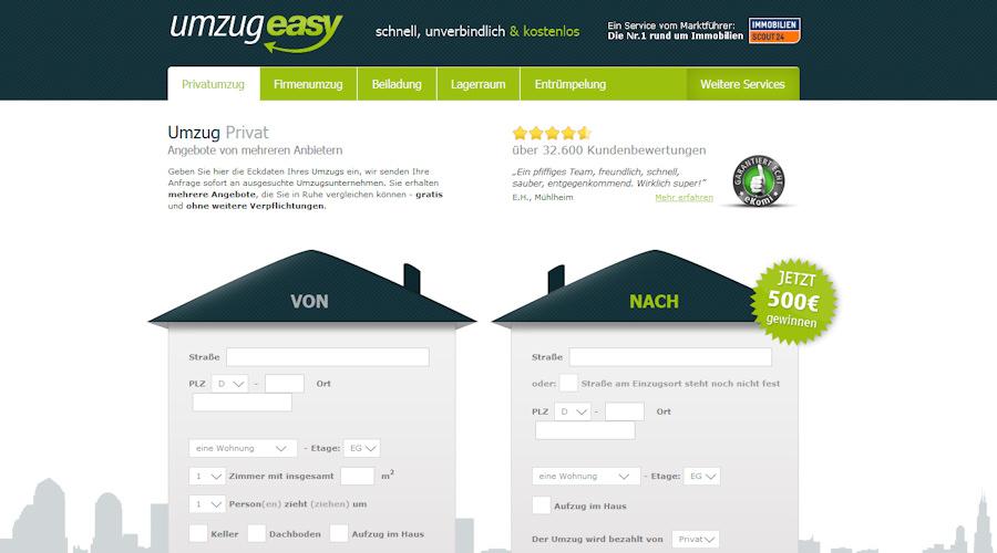 Umzugeasy-Screen